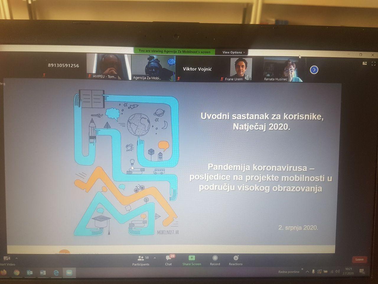 Erasmus koordinator doc.dr.sc. Boris Dorbić sudjelovao na  Uvodnom sastanku s Erasmus kordinatorima za KA1 projekte